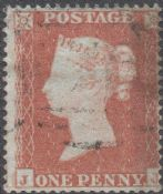 1854 1d Red SG17 Plate 166 'JJ'